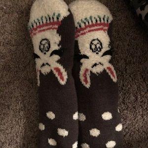 Fuzzy Unicorn Socks